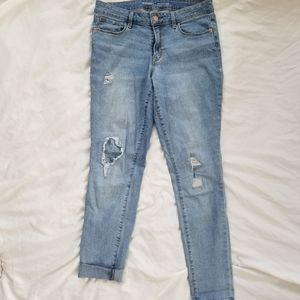 Old Navy Skinny Jeans with Patched Holes